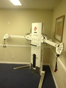 Free Motion Upper body Rehab Machine